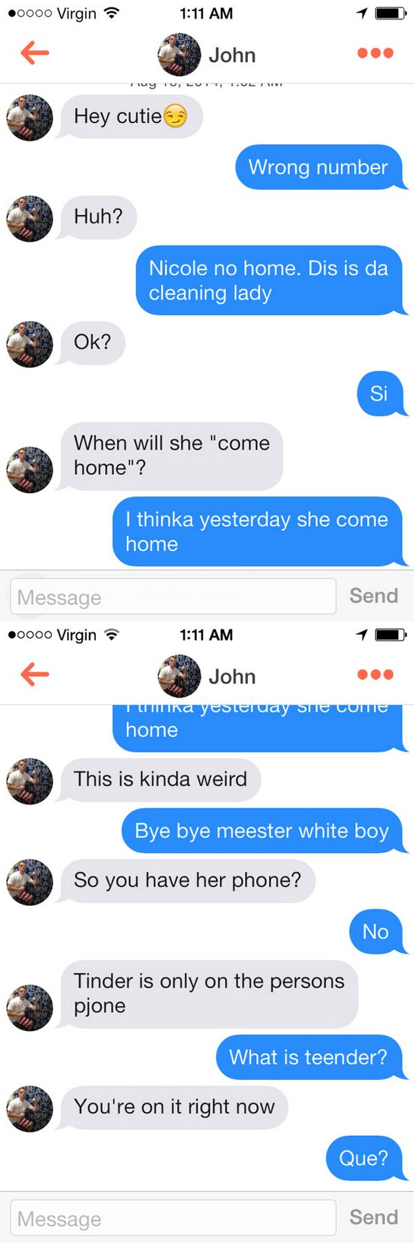 23 Funniest Tinder Conversations Ever - Funny Gallery