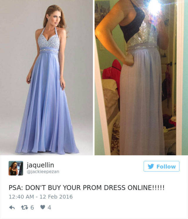 Why You Never Should Order Your Prom Dress Online - Facepalm Gallery ...