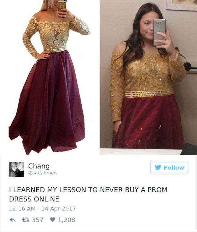 Why You Never Should Order Your Prom Dress Online Facepalm Gallery