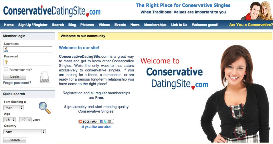 Conservative Dating Site - Dating Site for Conservative Singles | Home