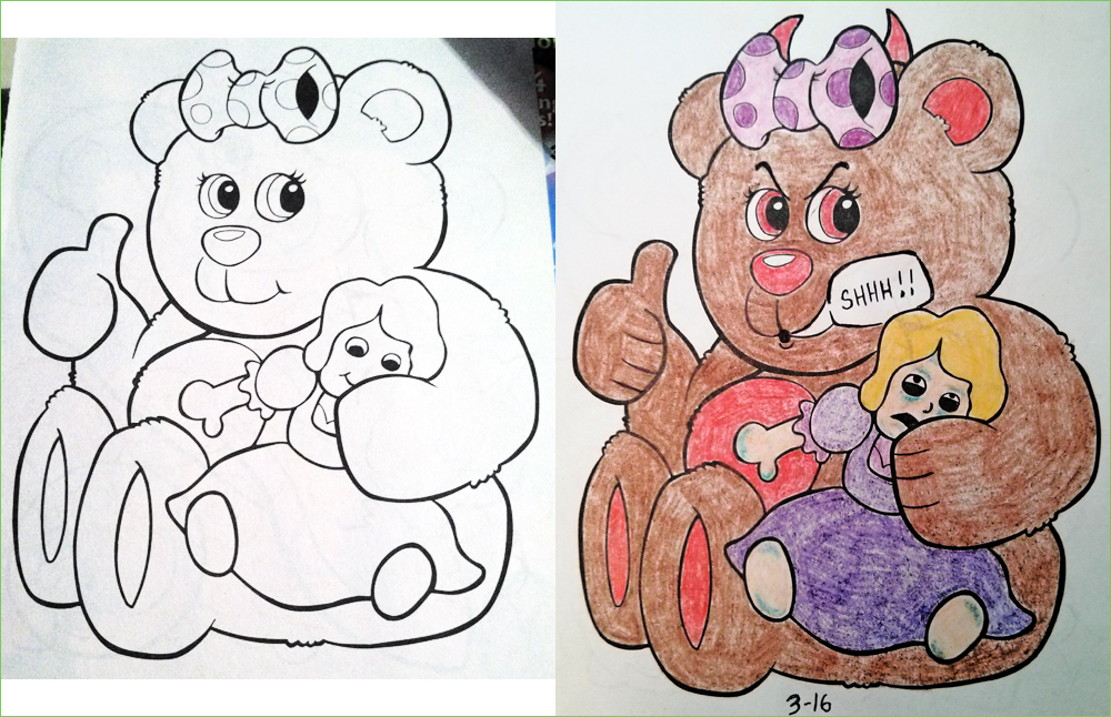 Coloring Book Corruption