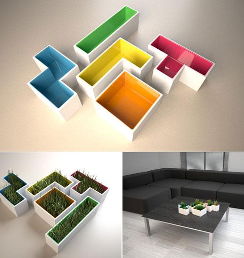 21   Tetris Planters