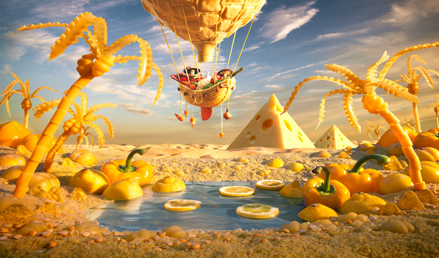 A World Made Of Food Gallery EBaums World - 15 fantasy landscapes entirely made from food