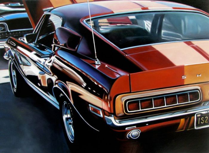 Hyper Realistic Vintage Car Paintings Gallery Ebaum S World