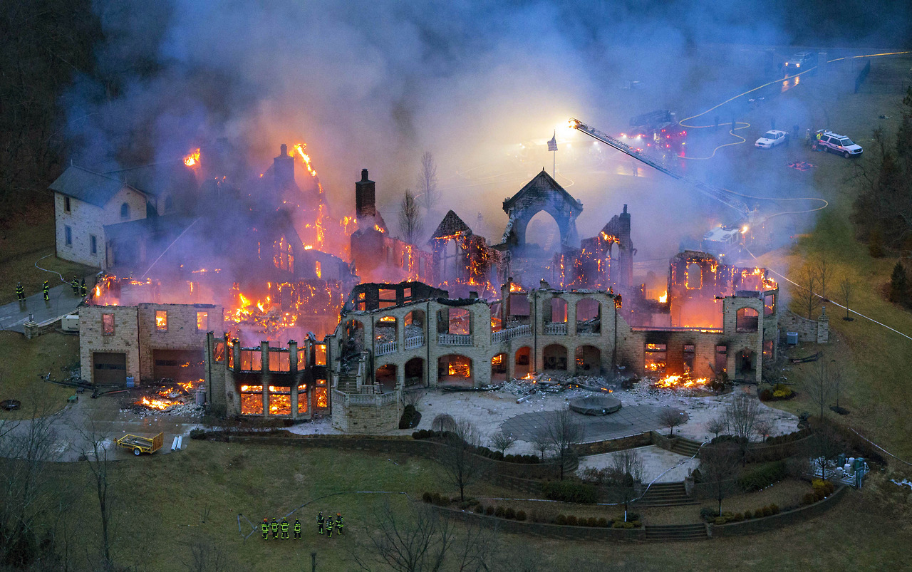 20 - Four million dollar mansion burns to the ground in Ohio