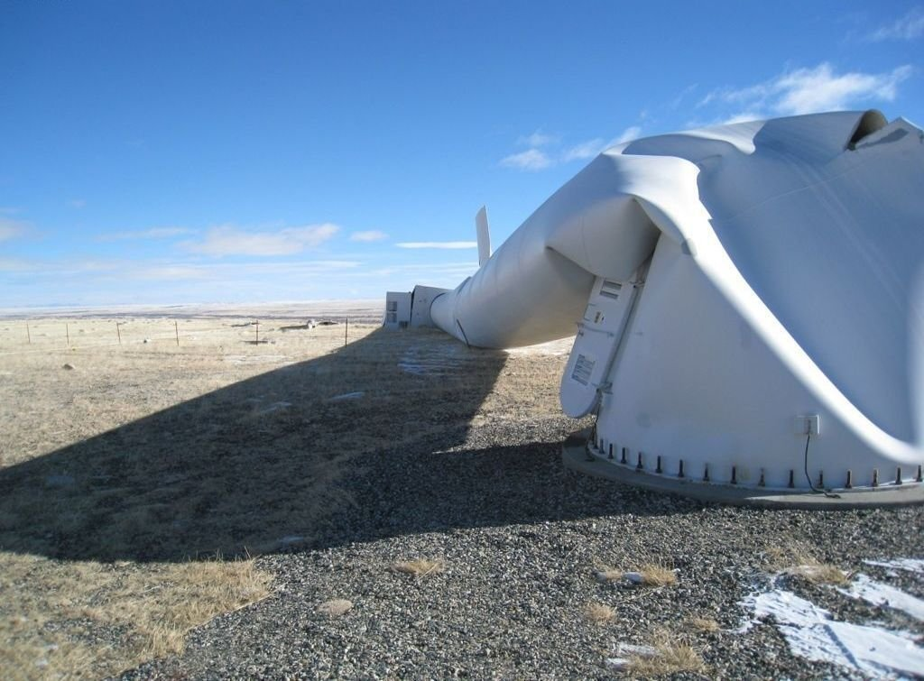 8 - Blown over wind turbine in Wyoming