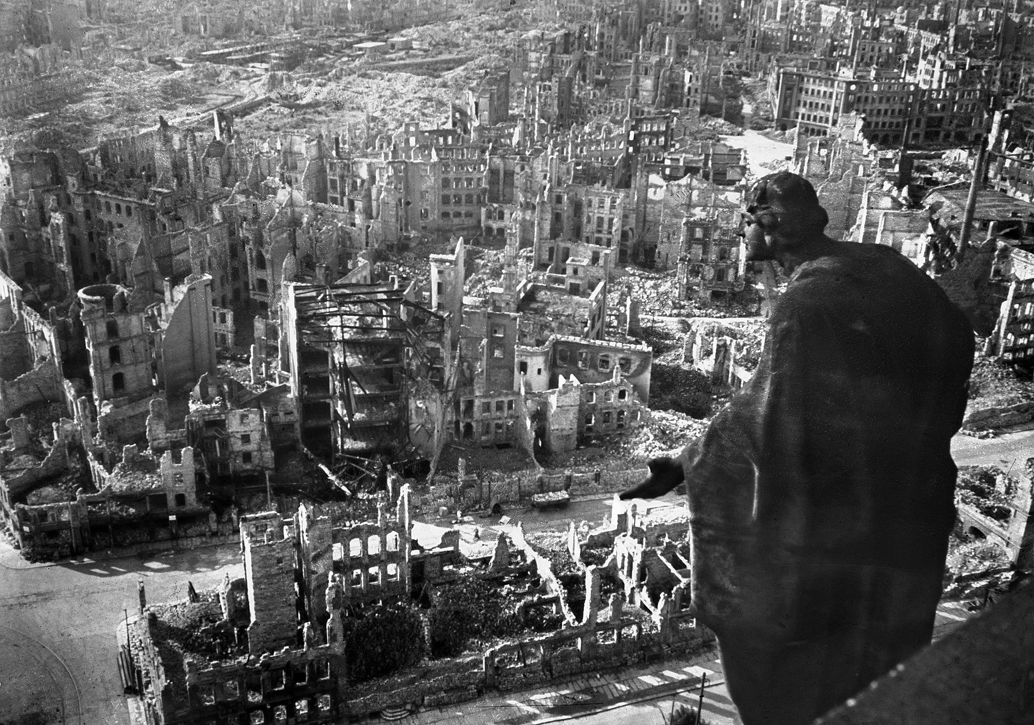 21 - Dresden, Germany, after allied bombings on 15 February 1945