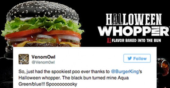 Burger King's Halloween Whopper Is Turning People's Poo Green ...
