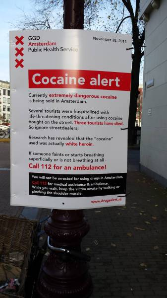 10 - A PSA to tourists about bad drugs in Amsterdam.