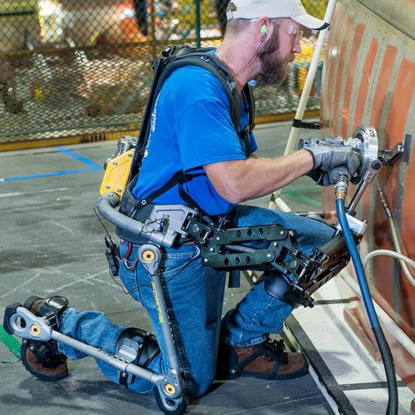 12 - This is a FORTIS exoskeleton, it augments human abilities, reducing muscle fatigue by 300 percent.