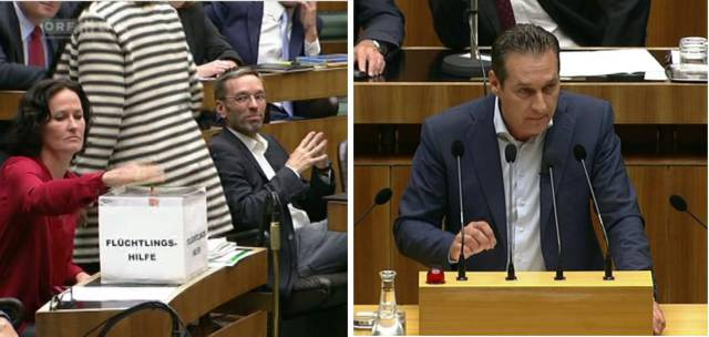 19 - Austrian left wing party donates money to refugees everytime an Austrian right wing party doesn't tell the truth in the parliament.