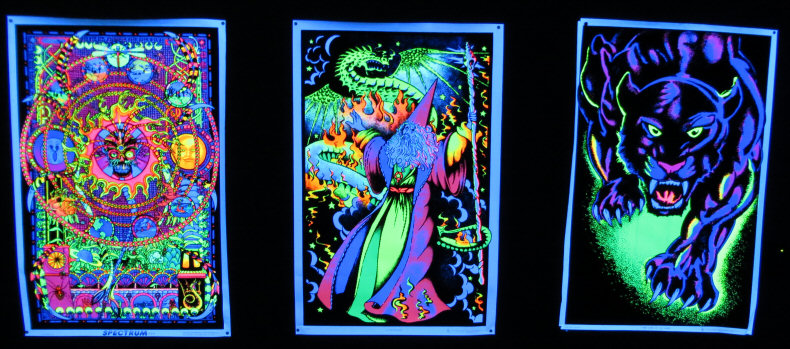 Trippy Blacklight Posters