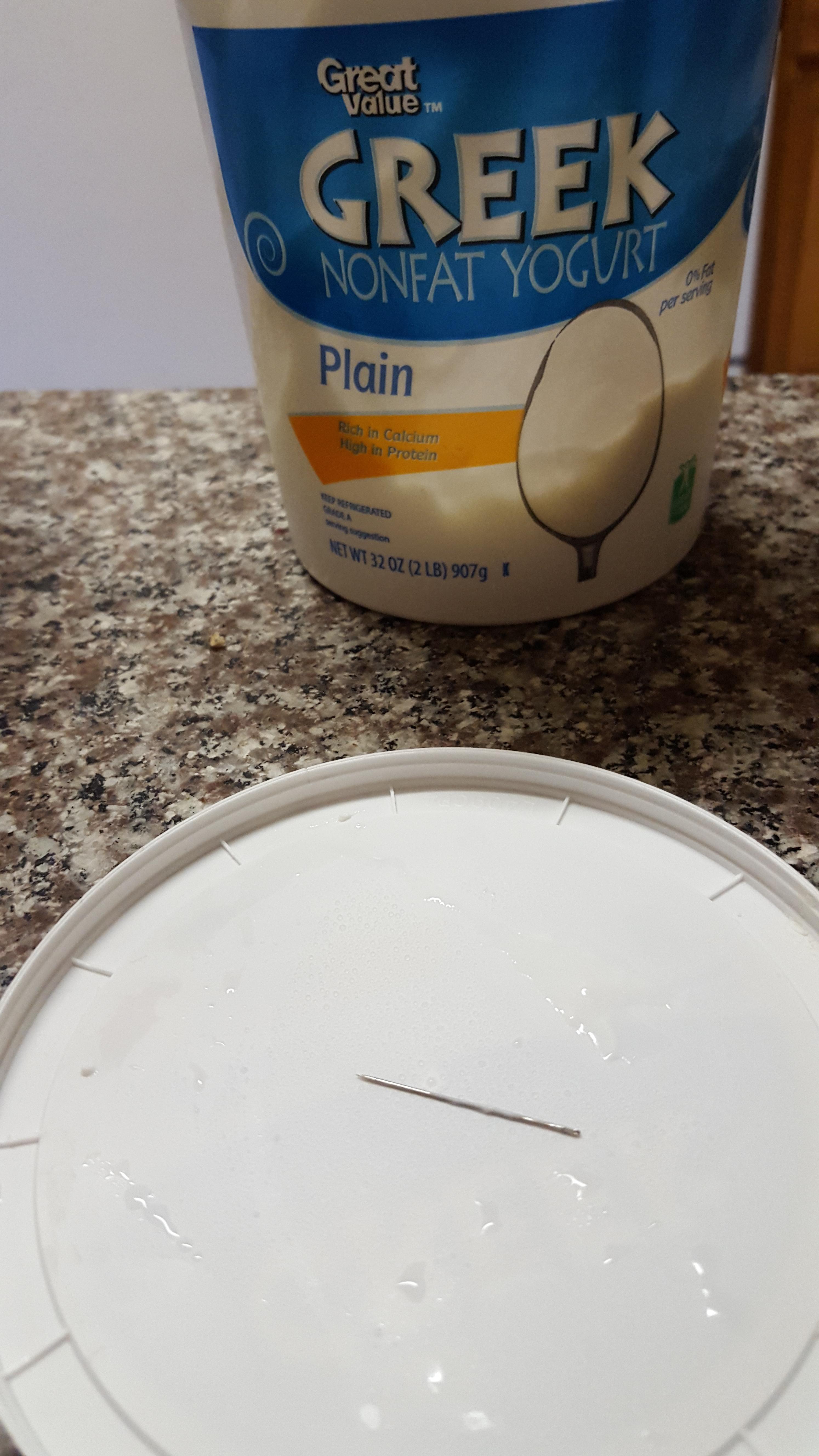 21 - Someone found a needle in their yogurt.