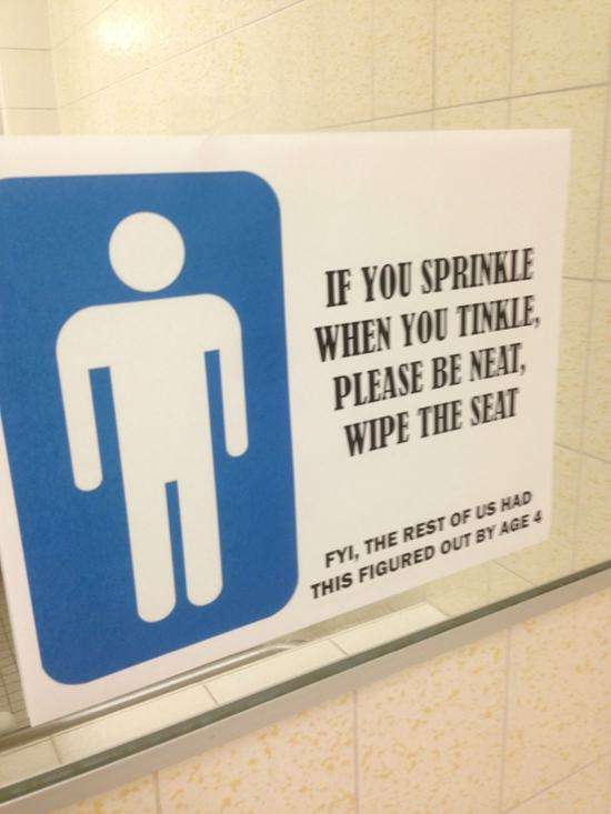 Bathroom Sign Meme 24 funny signs spotted in the bathroom - gallery | ebaum's world