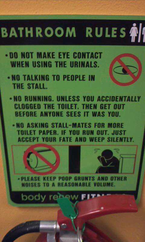 Bathroom Signs Gym 35 hysterical public restroom signs - funny gallery | ebaum's world