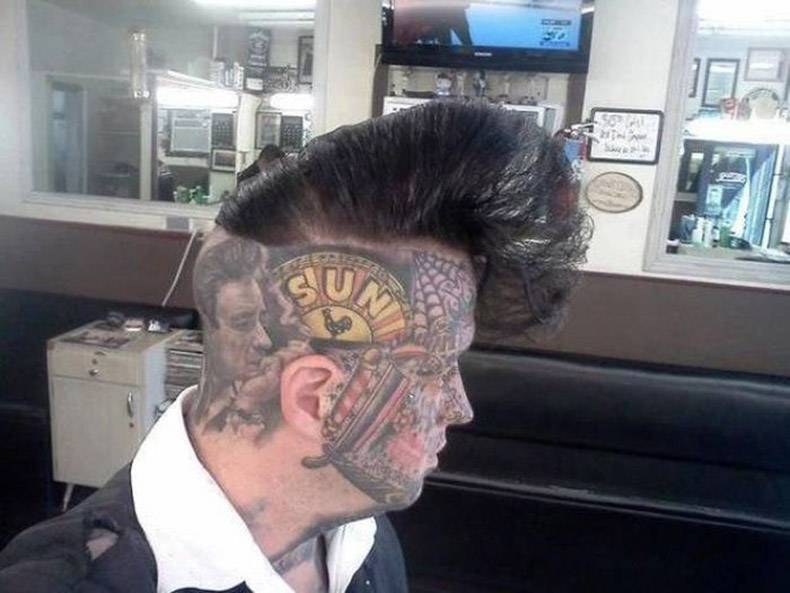 15 - WTF haircut and face tattoo combo