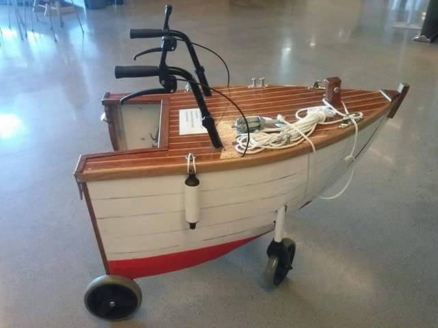 Image result for geriatric walker looks like a boat