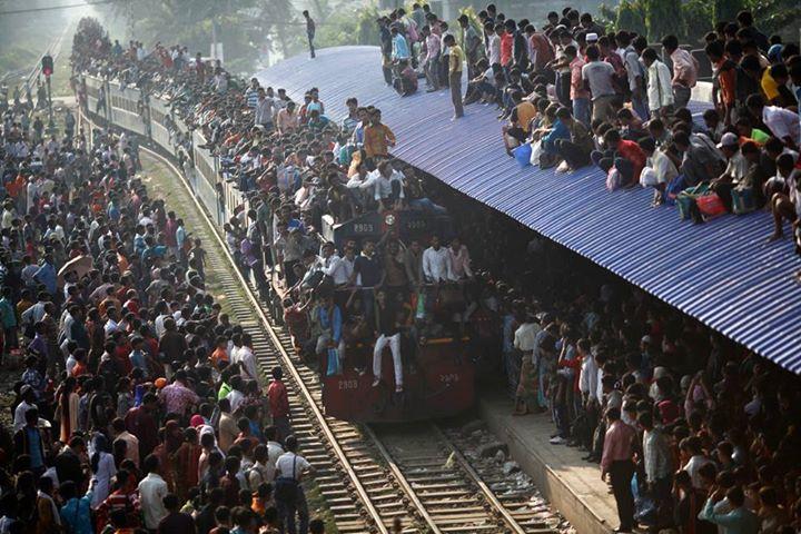 18 - Train ride in India.