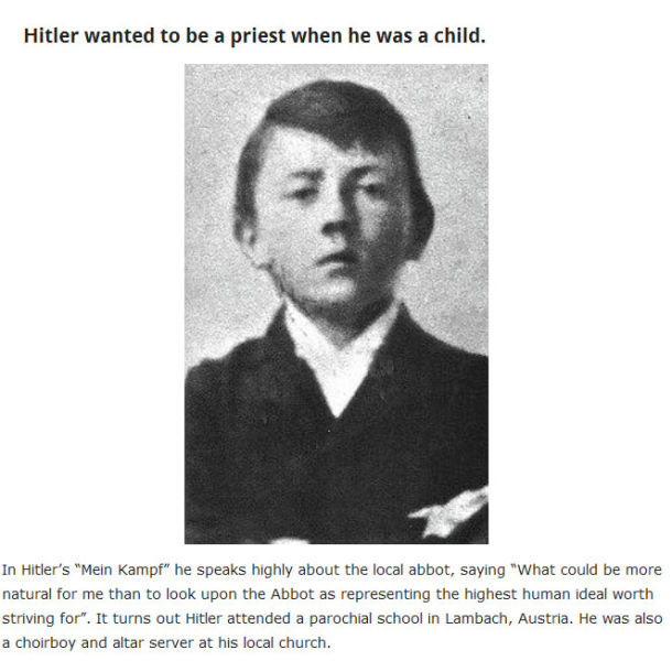 Facts About The Weird World of Adolf Hitler - Creepy Gallery ...