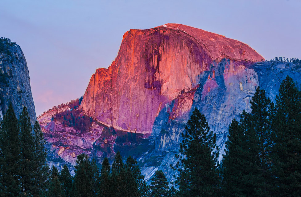 11 - Yosemite's Half Dome at sunset
