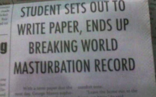 5 - Masturbation.