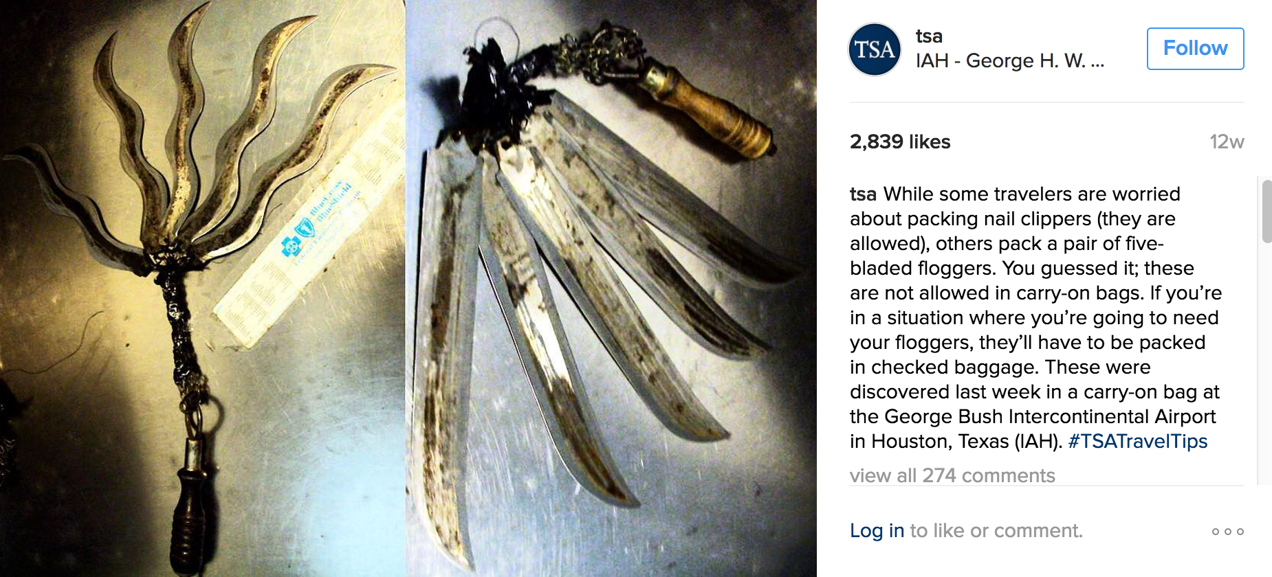 TSA\'s Instagram Shows Some F*cked Up Confiscations - Wow Gallery ...