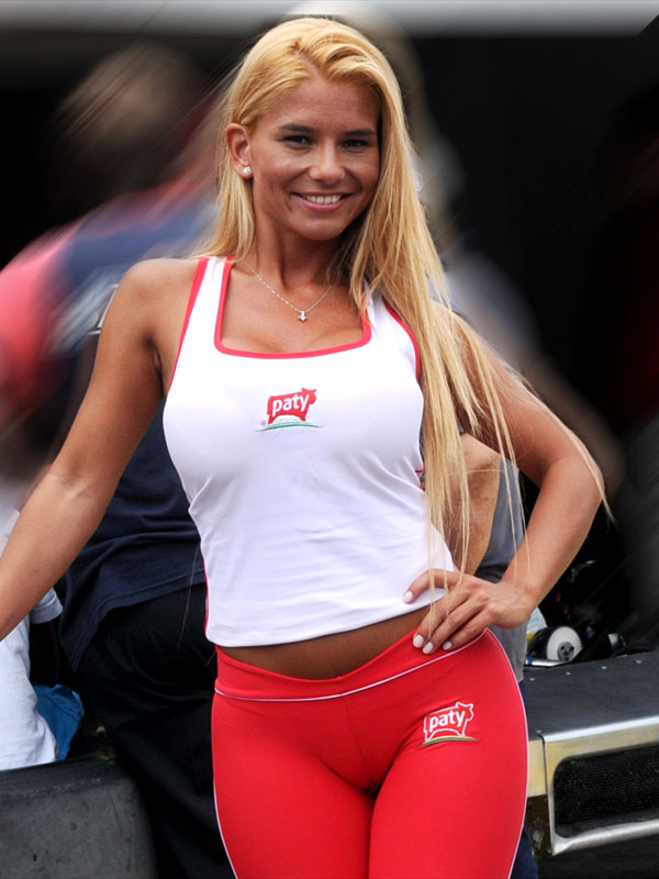 Motor racing girls tight thong leggings