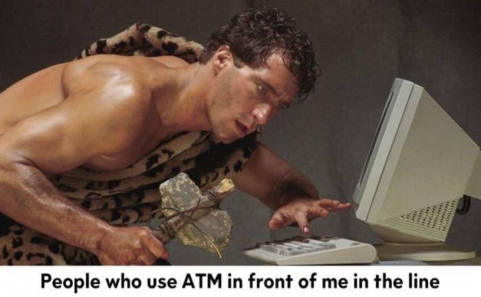 11 - Caveman using computer