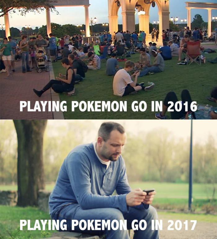 36 - Meme about how Pokemon Go is not that popular anymore.