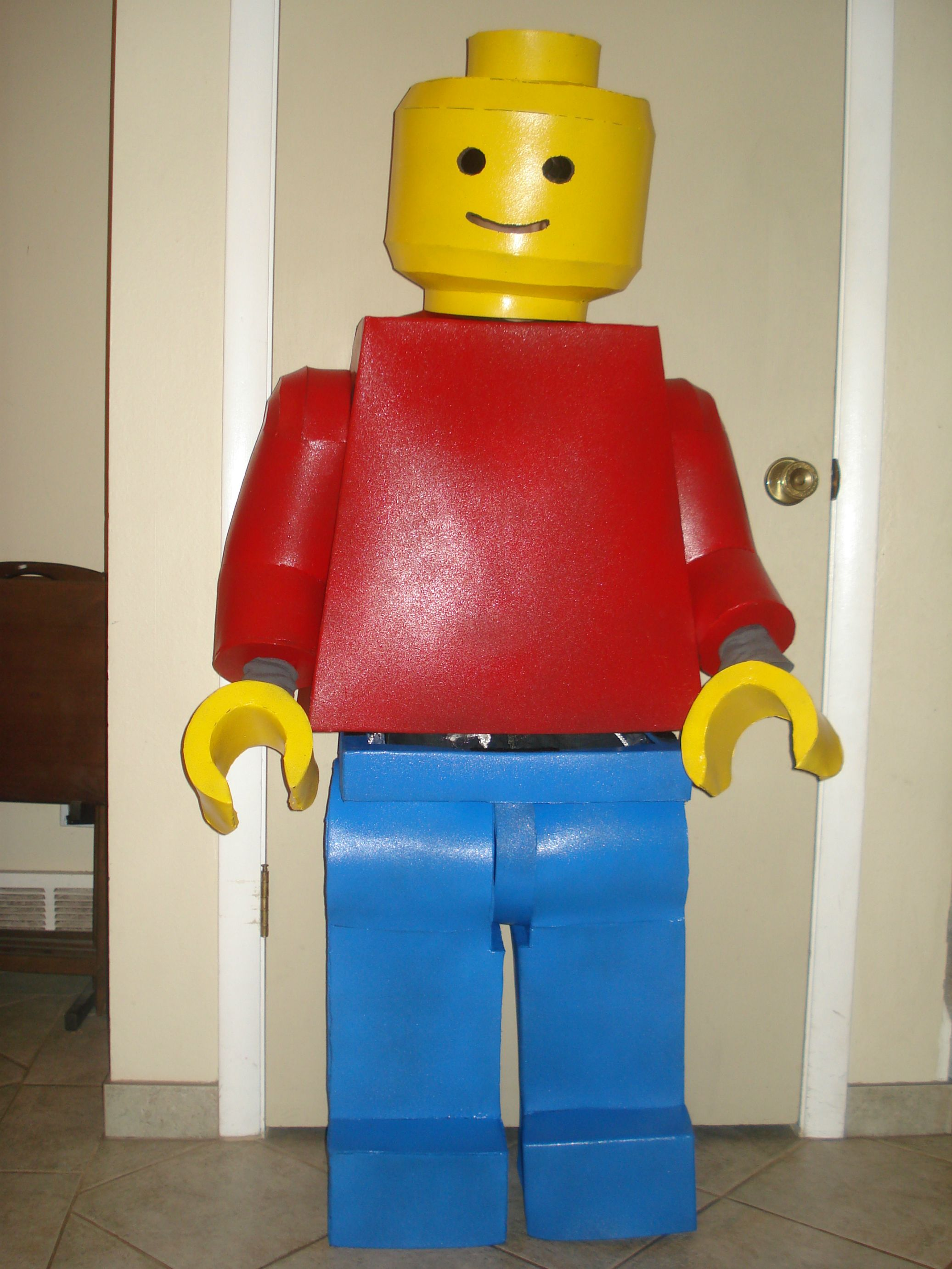 Lego Man Halloween Costume.Lego Man Costume Head I Found A Google Image Of An Iron