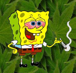 spongebob smoking weed