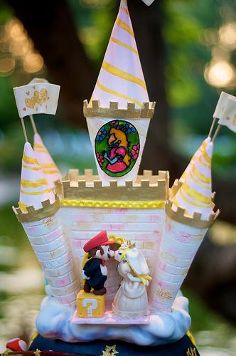 Mario kart wedding cake
