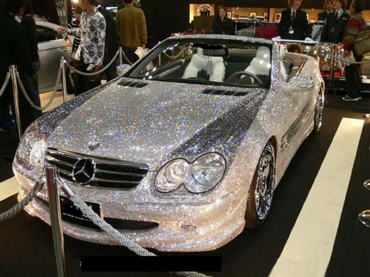 diamond encrusted car