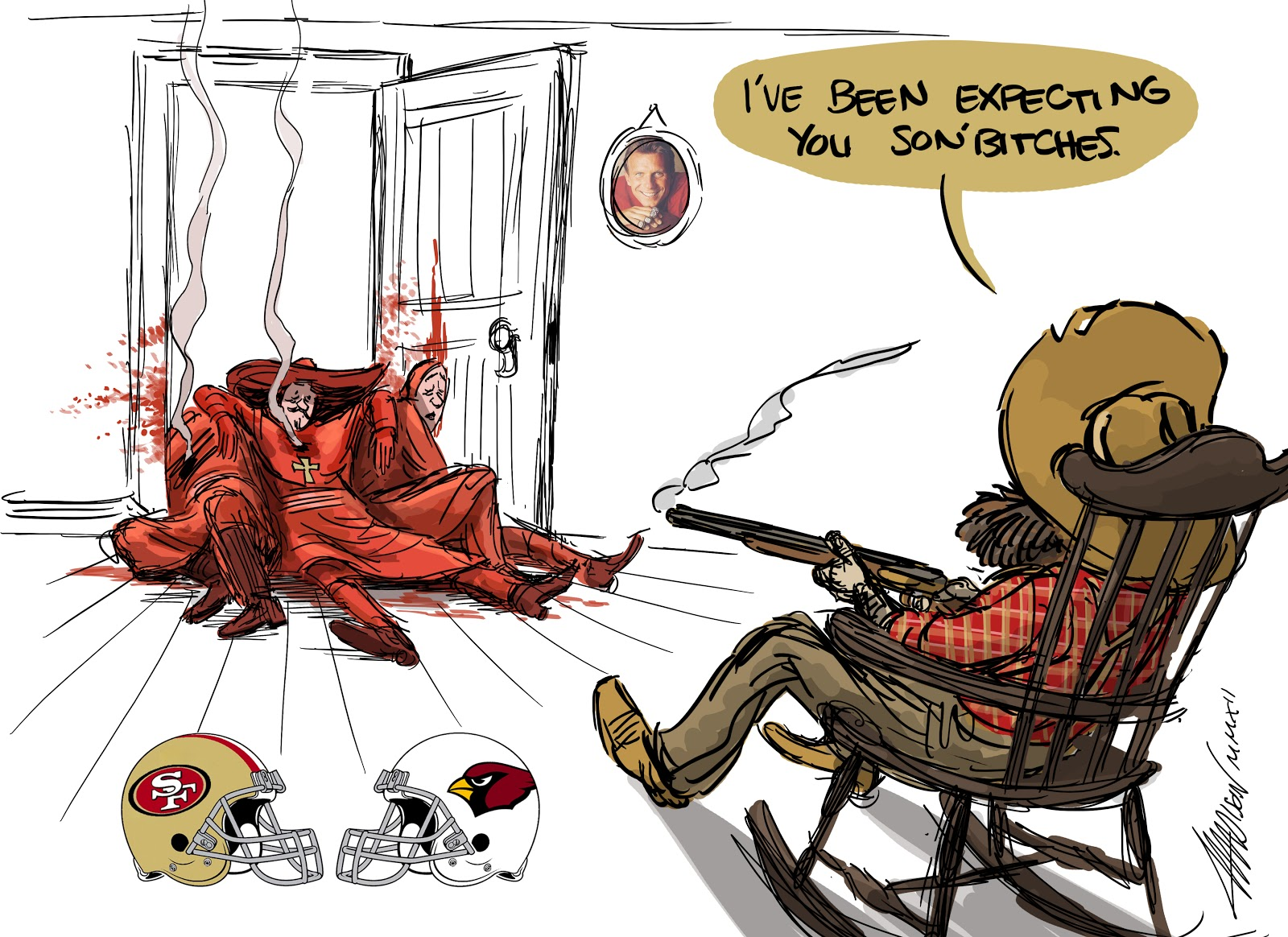 A pixar animator sketches the nfl season gallery ebaums world 1 49ers vs cardinals and an awesome monty python reference voltagebd Choice Image