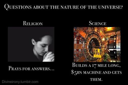 Resultat d'imatges de praying vs science