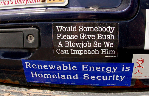 1 bumper stickers