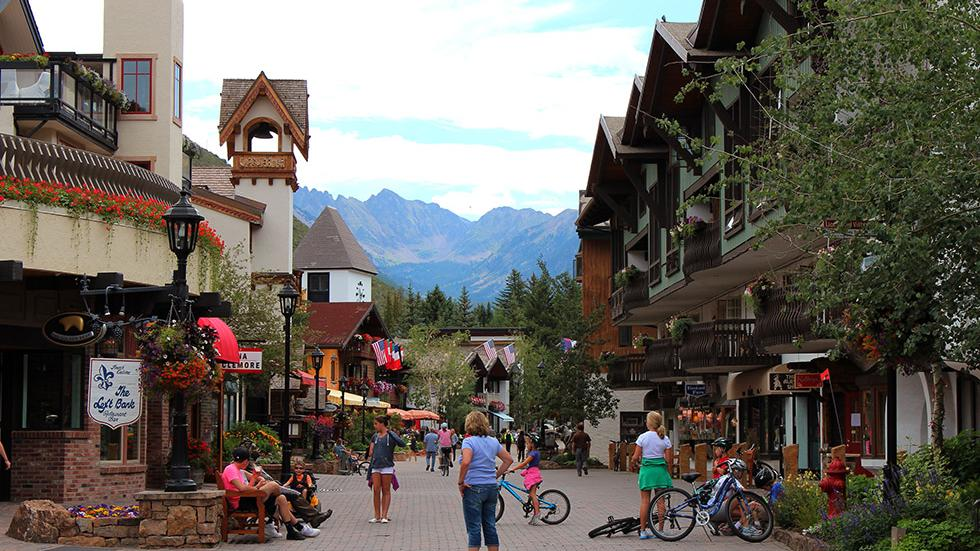 16 - Wanna see a Swiss Chalet? Just go to Vail Village, CO.
