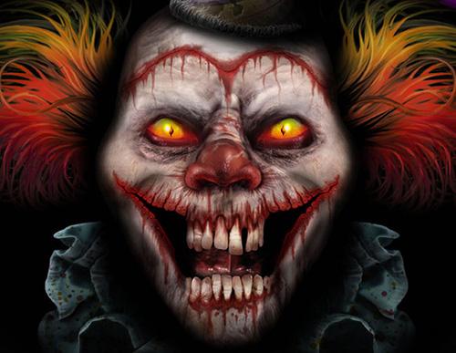 Scary Clown Art