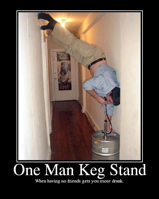 One Man Keg Stand Picture Ebaum S World