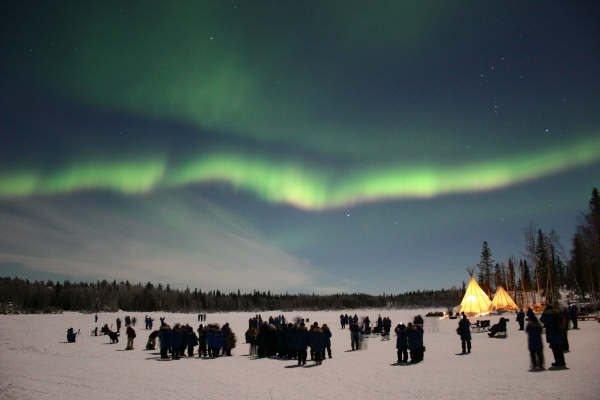 1   Amazing Northern Lights, Aurora Borealis, Fire Rainbow In Canada