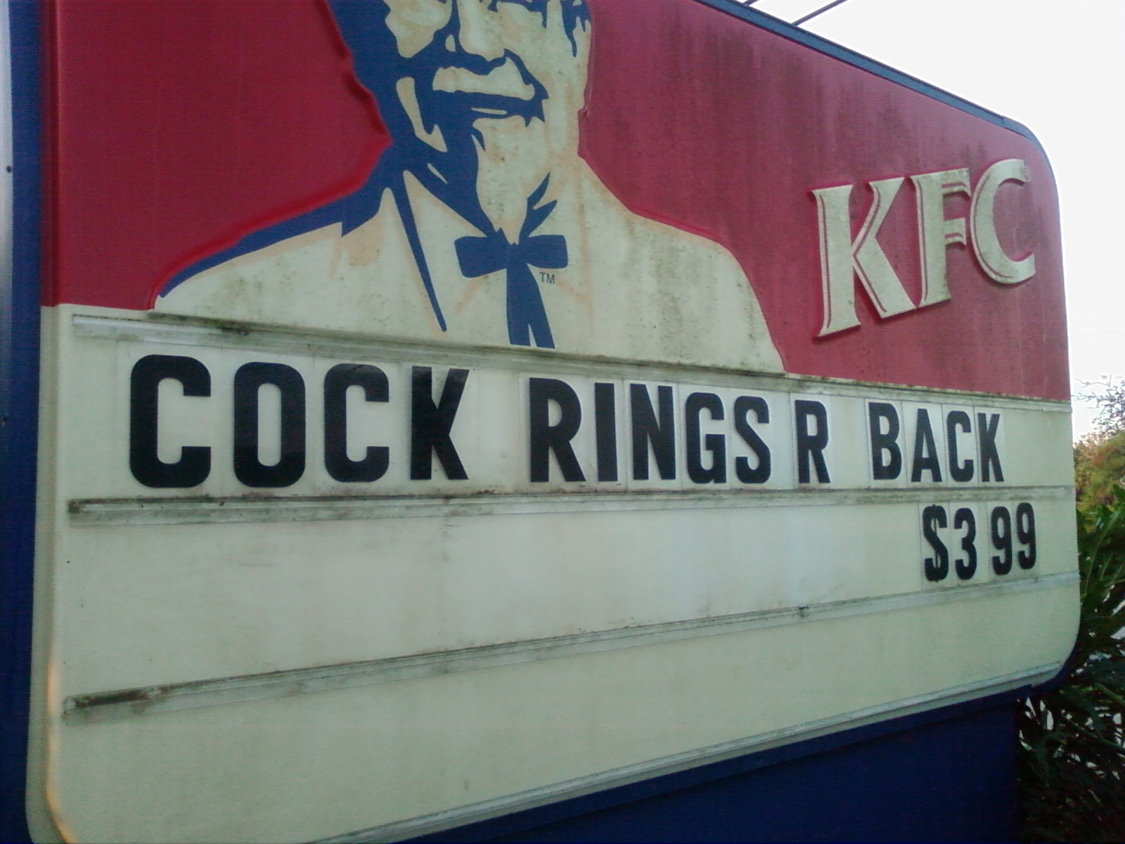 Funny Kfc Pictures 13 Pics: KFC Sign Sabotage - Picture