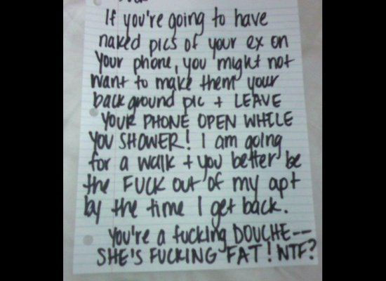21 Funny Break Up Notes Gallery Ebaum S World