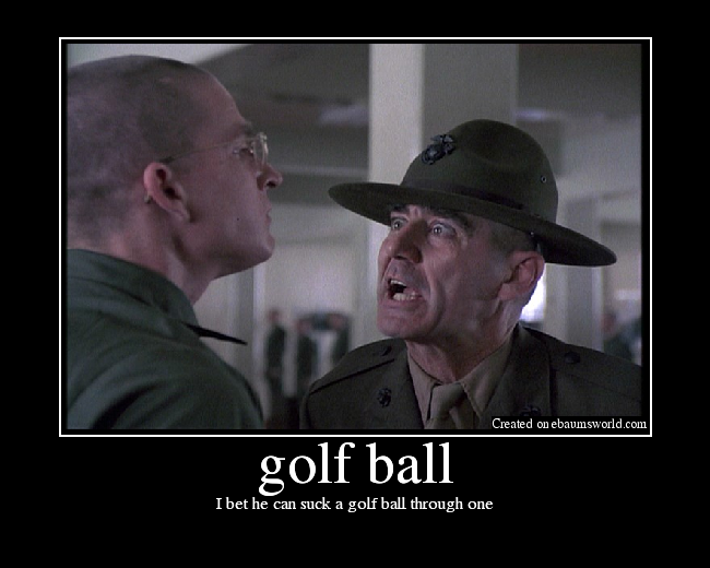 Suck a golf ball through