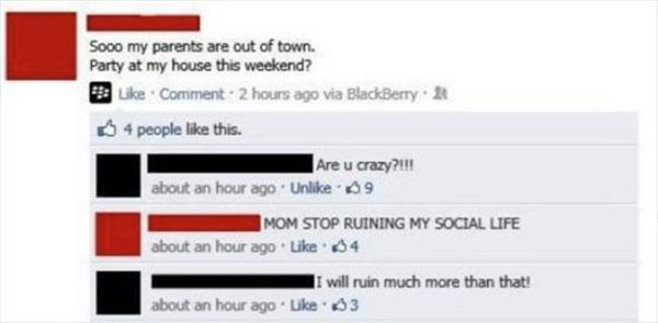 8 - 35 Parents On Facebook Owning Their Kids