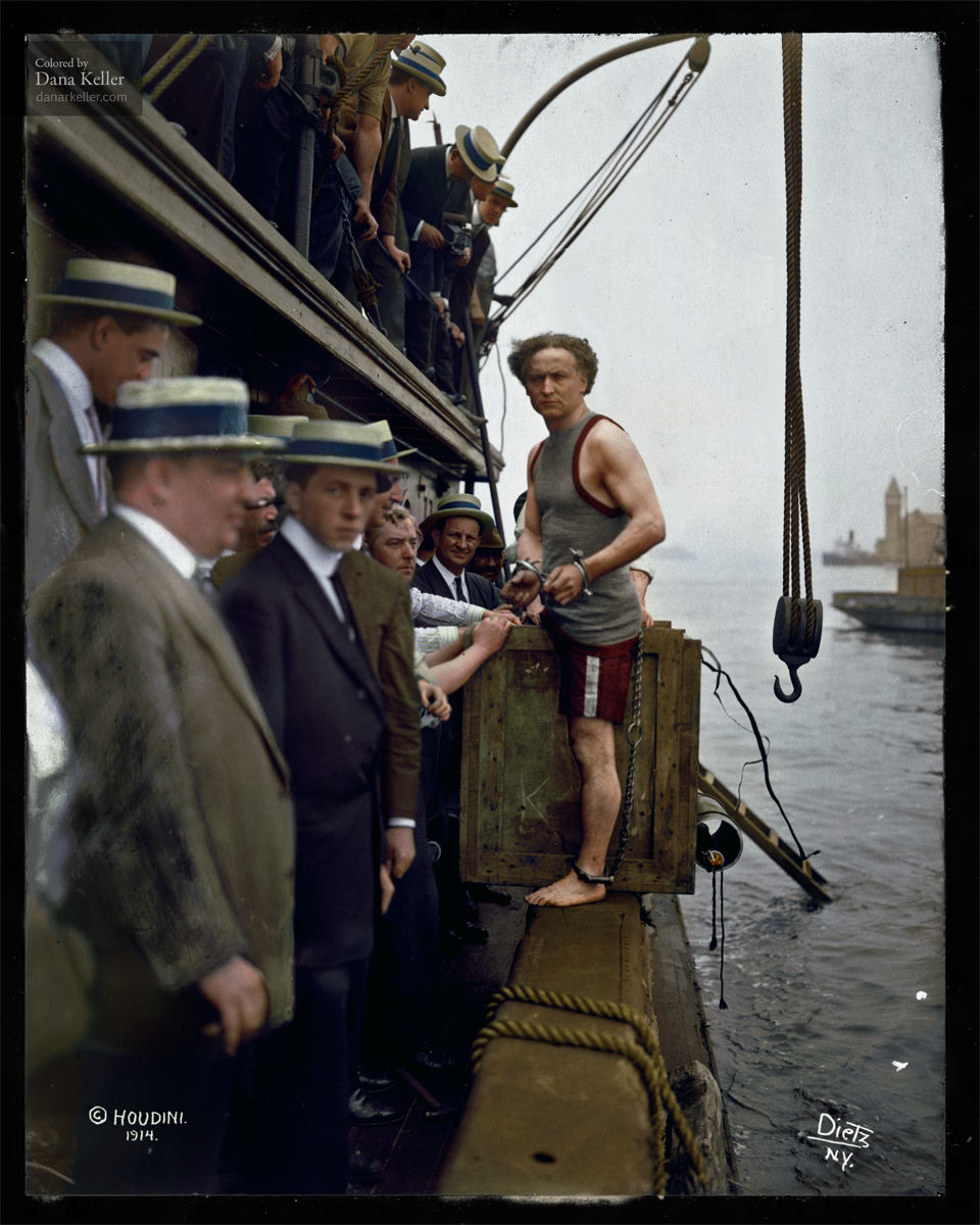 8 -  The actual Harry Houdini just before performing an escape.