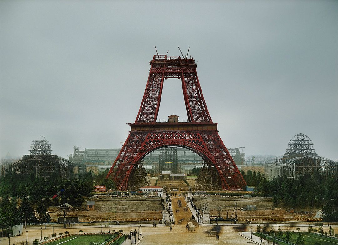 13 -  The Eiffel Tower being built