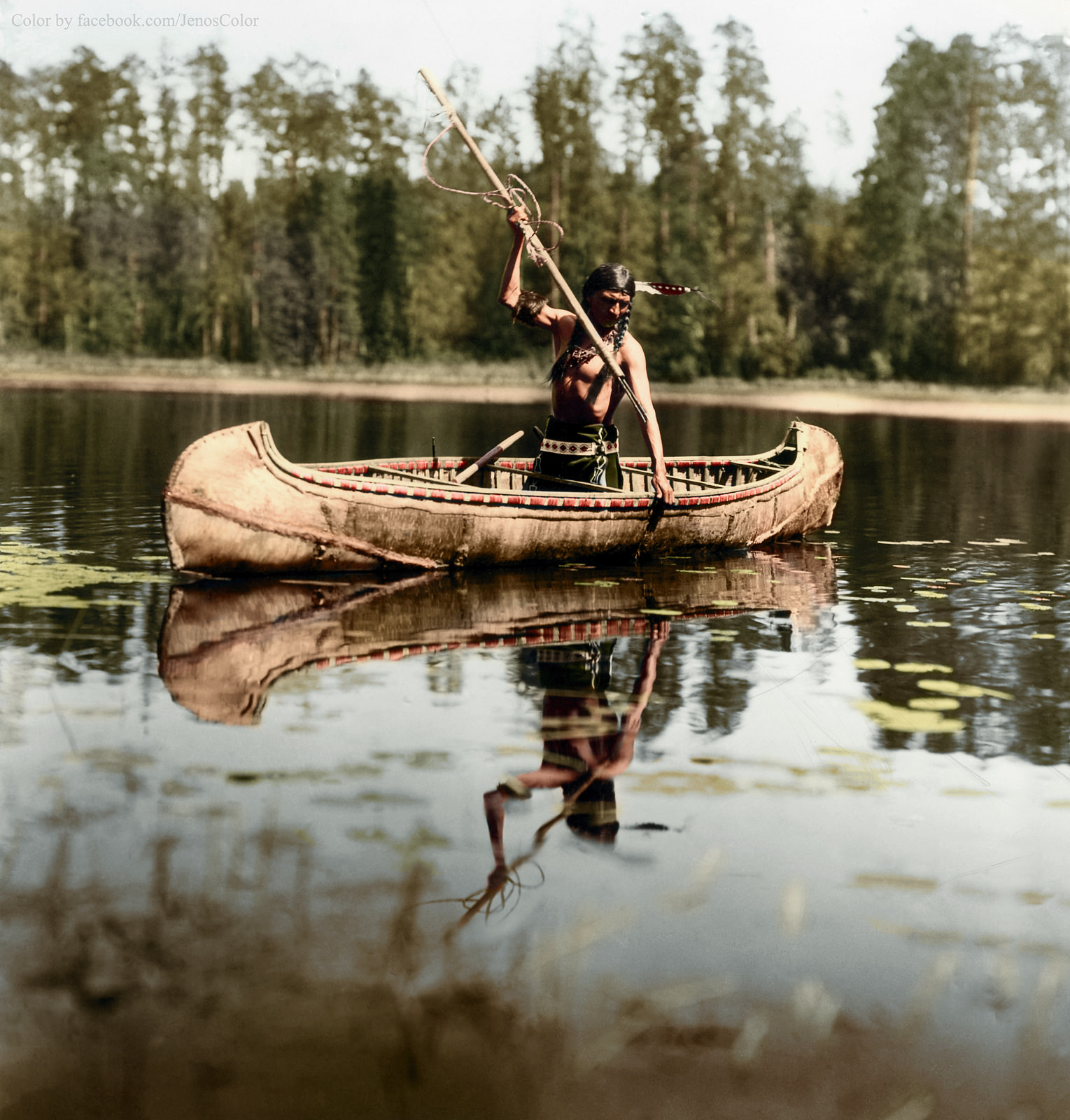 14 -  Native American Spearfishing 1908.