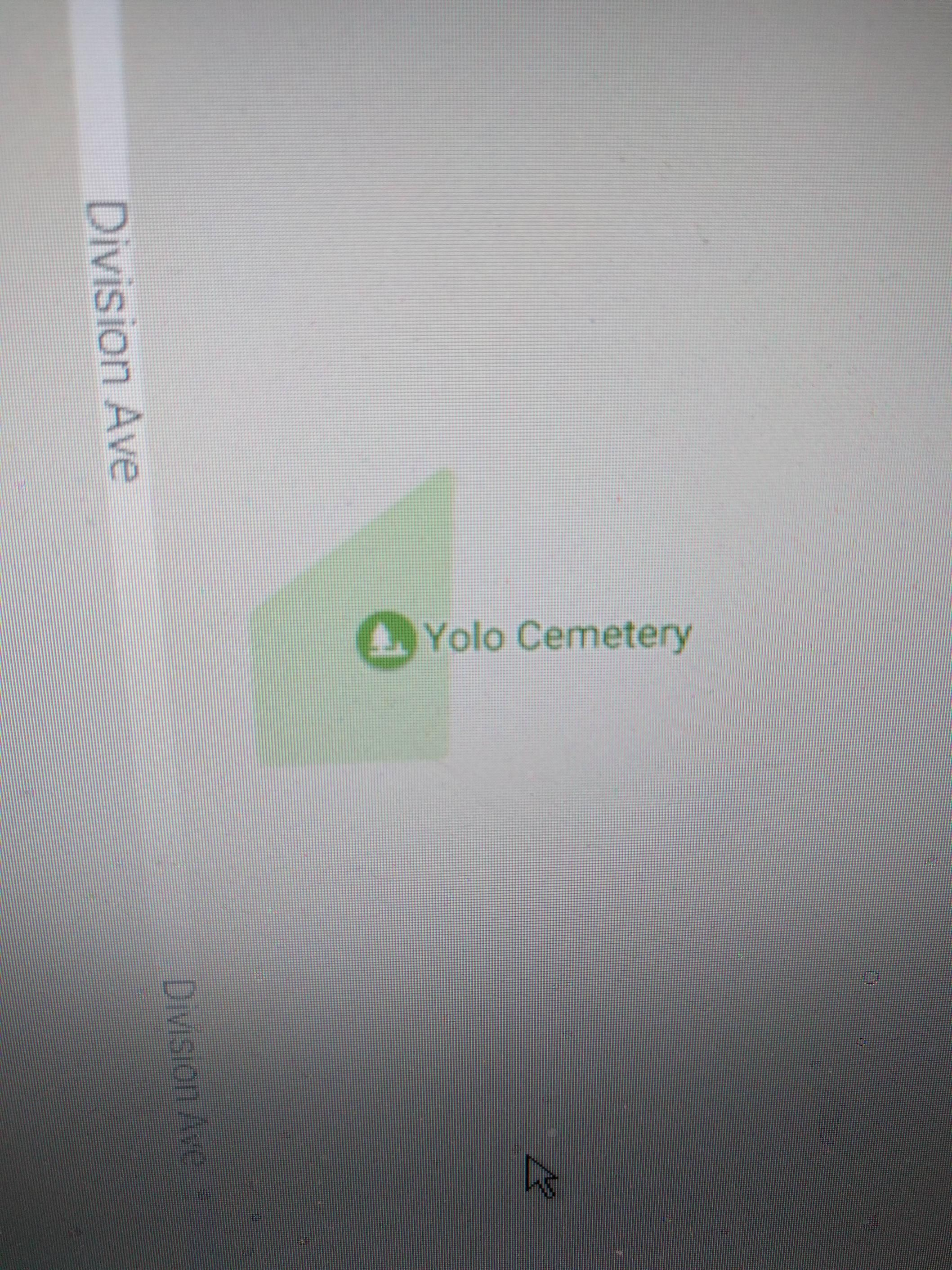 4 - The YOLO Cemetery as seen on a map.