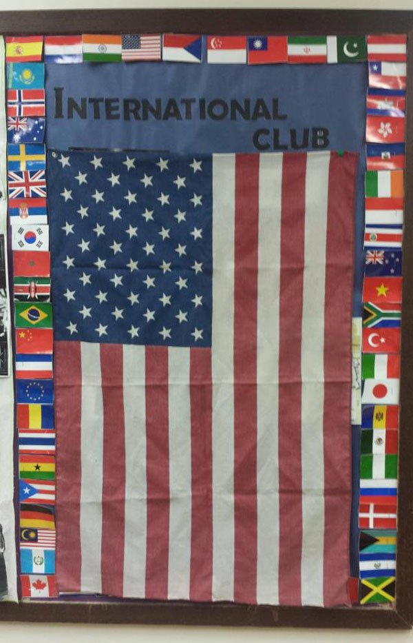 16 - International club in which the flag of the USA seems much bigger than all the rest.
