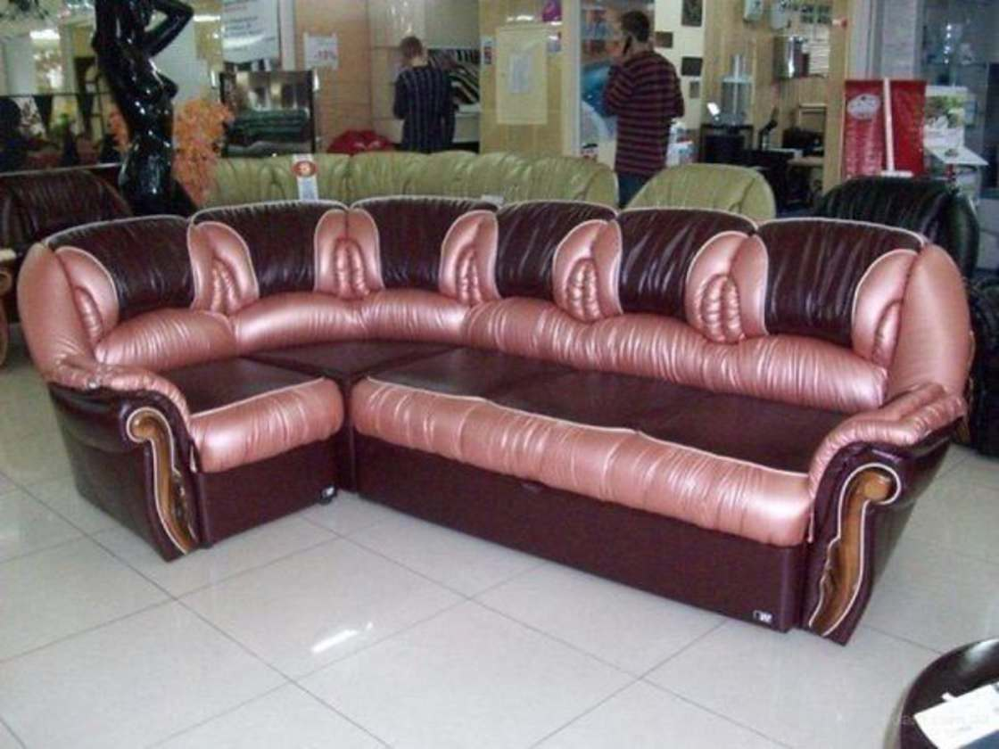 25 - Couch that looks like a whole bunch of ugly vaginas